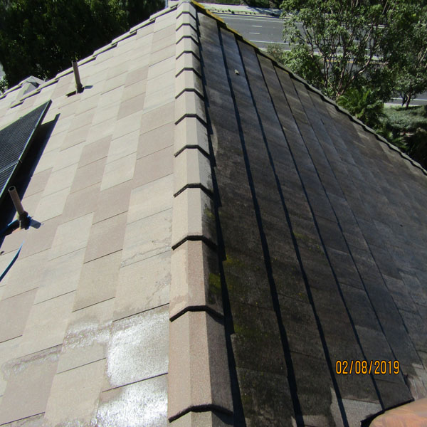 Slate Roof Tile Before & After